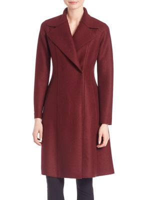 Single Breasted Solid Wool Long Coat plus size,  plus size fashion plus size appare
