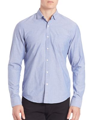 Bowery & Bleeker Slim-Fit Embroidered Shirt