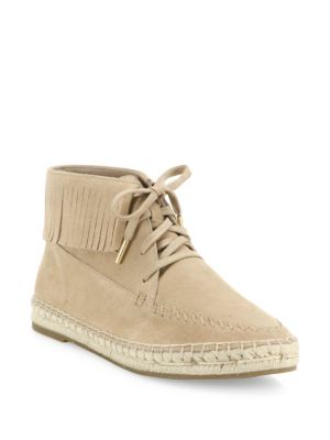 Genevieve Fringed Suede Espadrille Moccasins
