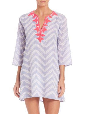Meena Kurta Tie-Dye Cotton Tunic Coverup plus size,  plus size fashion plus size appare