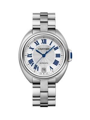 Clé de Cartier Stainless Steel Bracelet Watch/35MM
