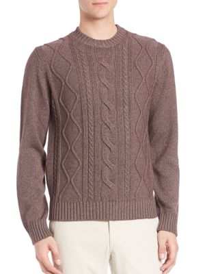 Cable-Knit Silk & Cashmere Sweater