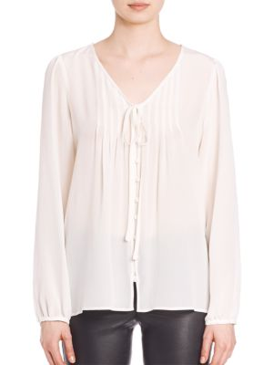Silk Pleated Blouse by SET