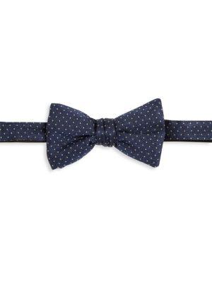 Pin Dot Silk Bow Tie
