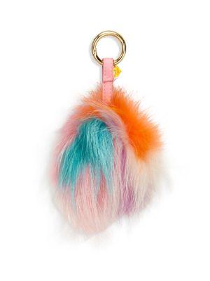 Girl's Fur Multi Pom-Pom Keychain