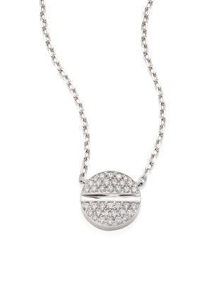 Verge 18K White Gold & Diamond Necklace