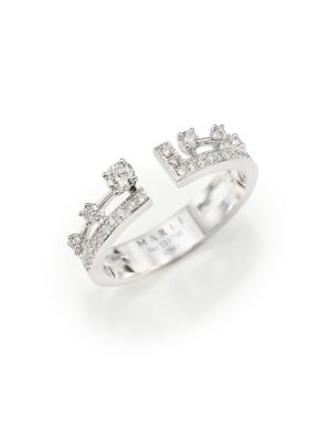 MARLI Avenues 18K White Gold & Diamond Index Ring