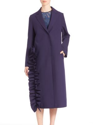 Ruffle Long Coat plus size,  plus size fashion plus size appare