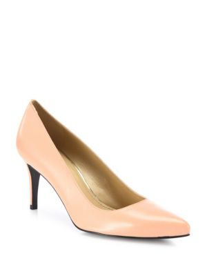 Tessa Leather Point Toe Pumps