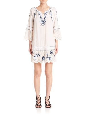 Tamtam Embroidered Lace-Trim Dress