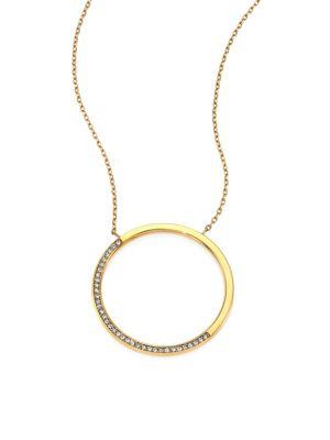 Brilliance Circular Pavé Pendant Necklace by Michael Kors