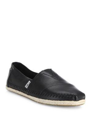 Classics Espadrille Leather Slip-Ons