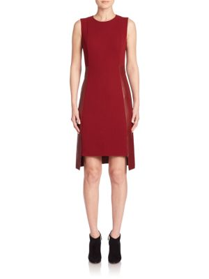 Double Face Wool & Leather Dress