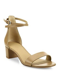 5def576c639 Vince Rianne Leather Block-Heel Sandals from Saks Fifth Avenue - Styhunt
