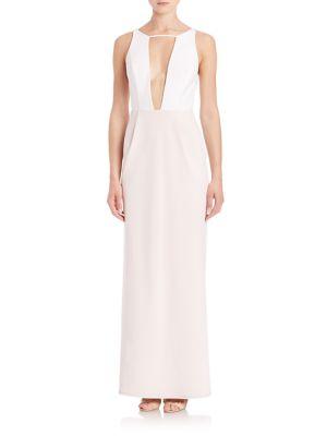 Colorblock Cutout Gown