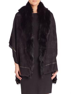 Wool-Blend & Fox Fur Shawl