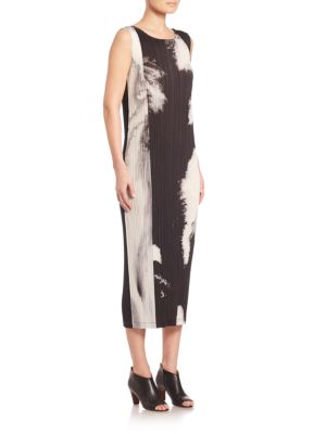 Tenmoku Marble Print Midi Dress