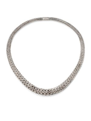 Classic Chain Sterling Silver Bib Necklace