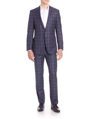 Samuelsohn Wool Windowpane Suit