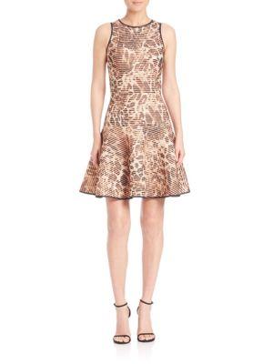 Leopard-Print Fit-&-Flare Dress