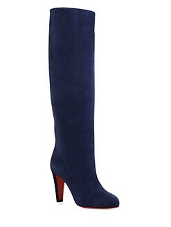 christian louboutin suede wedge boots