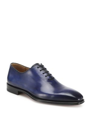 Magnanni One-Piece Leather Oxfords