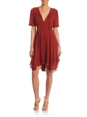 Sosta Ruffled Silk Dress