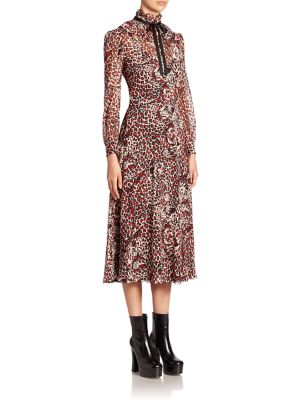 Animal Print Silk Georgette Dress