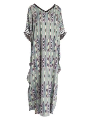 Terrain Cotton Caftan Coverup