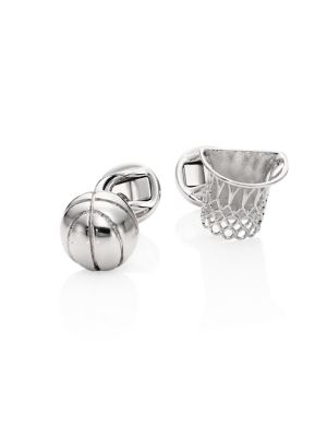 COLLECTION Rhodium-plated Basket Ball Cuff Links