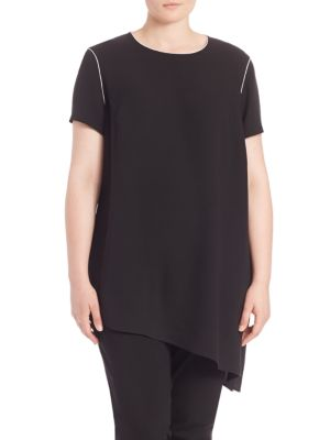 Silk Double Georgette Jaden Tunic plus size,  plus size fashion plus size appare