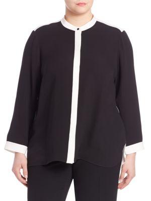 Silk Double Georgette Teagan Blouse plus size,  plus size fashion plus size appare