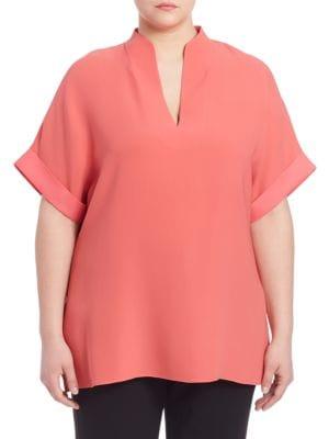 Silk Double Georgette Josie Blouse plus size,  plus size fashion plus size appare