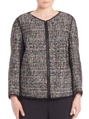 Studio Tweed Keaton Jacket plus size,  plus size fashion plus size appare