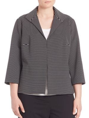 Bellene Pintuck Striped Jacket plus size,  plus size fashion plus size appare