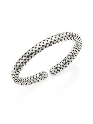 Dot Sterling Silver Bangle Bracelet