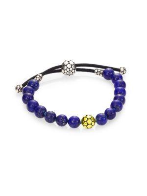 Dot Lapis Lazuli & Sterling Silver Bead Bracelet