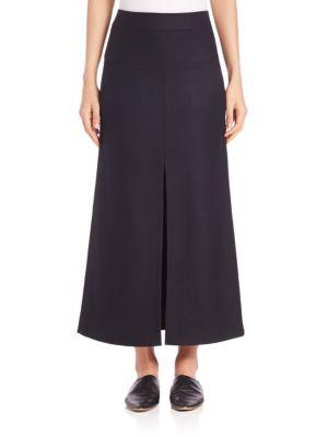 Front-Slit Maxi Skirt