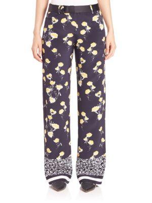 Ruthie Silk Wide-Leg Pants