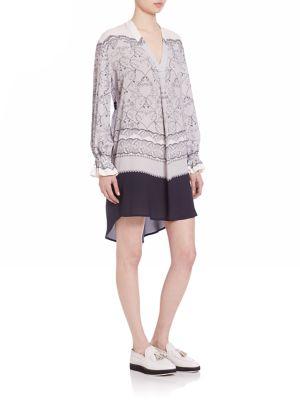 Hettie Silk V-Neck Tunic Dress