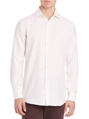 Solid Cotton Sportshirt