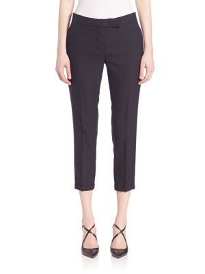 Low-Rise Skinny Wool Trousers