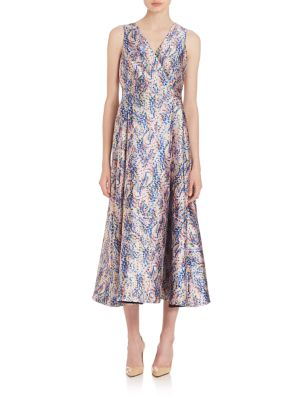 Sulan Floral-Print Midi Dress