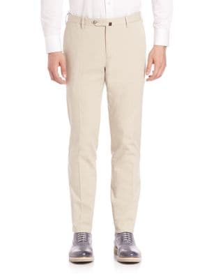 Solid Slim-Fit Pants