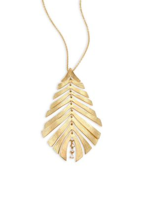 Bahia Diamond & 18K Yellow Gold Pendant Necklace