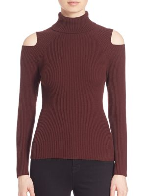 Jemliss Evian Stretch Wool Blend Cold-Shoulder Sweater by Theory