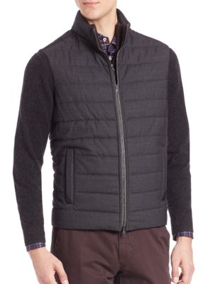 COLLECTION Quilted Virgin Wool Vest