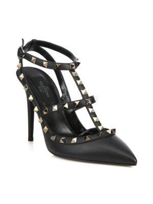 Valentino Garavani Rockstud Noir Leather Slings