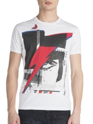 DSQUARED2 Arrow Punk Graphic Tee in White