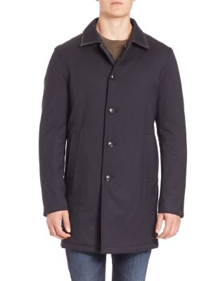 COLLECTION Reversible Quilted Wool Blend Coat